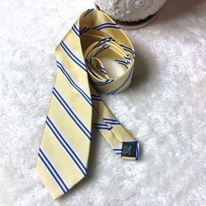J Crew | Silk tie blue stripes